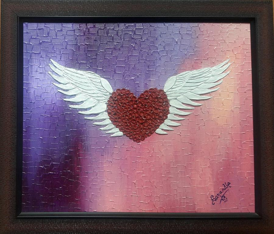 Heart Painting - Passionate Spirit by Sarandha D L