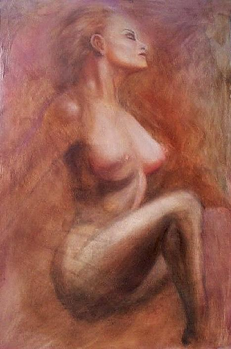 Woman Painting - Passionate Woman by Elizabeth Silk