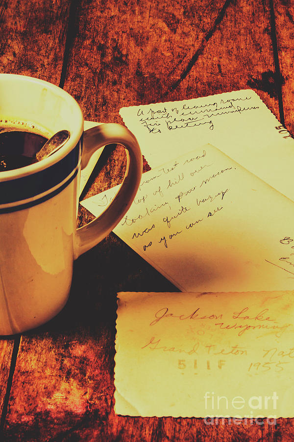 Cup Photograph - Past Postcard Preoccupations  by Jorgo Photography - Wall Art Gallery