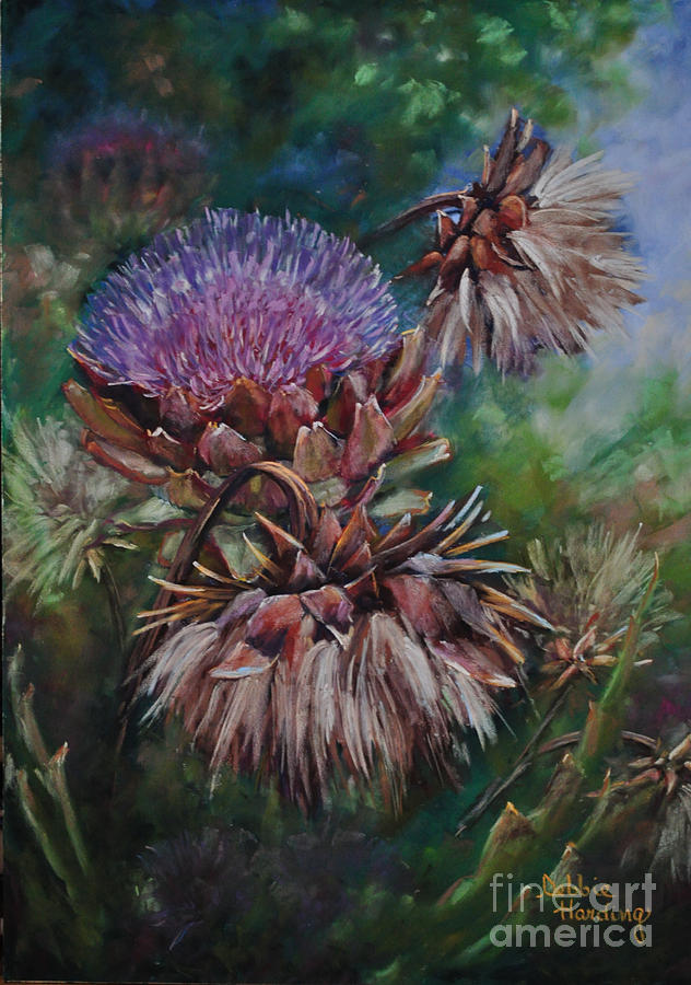 Flora Painting - Past Presence by Debbie Harding