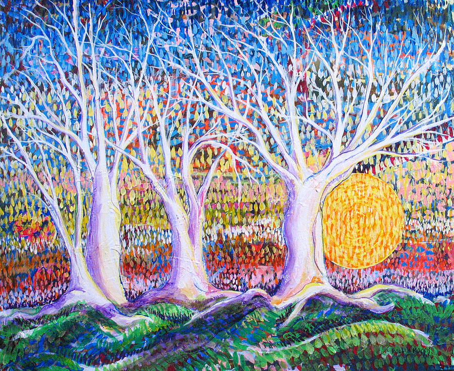 Landscape Painting - Past Present Future by Rollin Kocsis