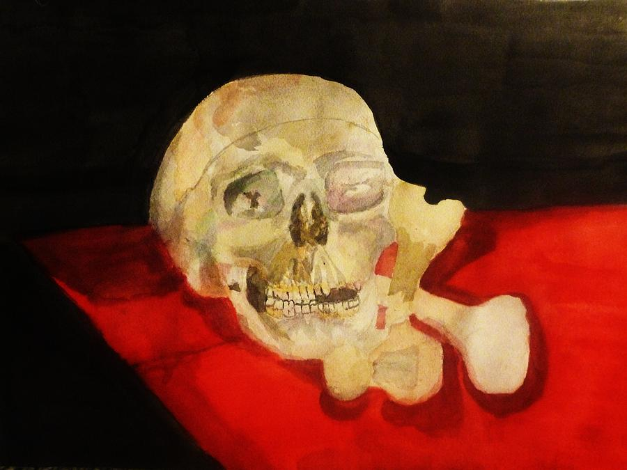 Skulls Painting - Past Present Future by Sarah Graham