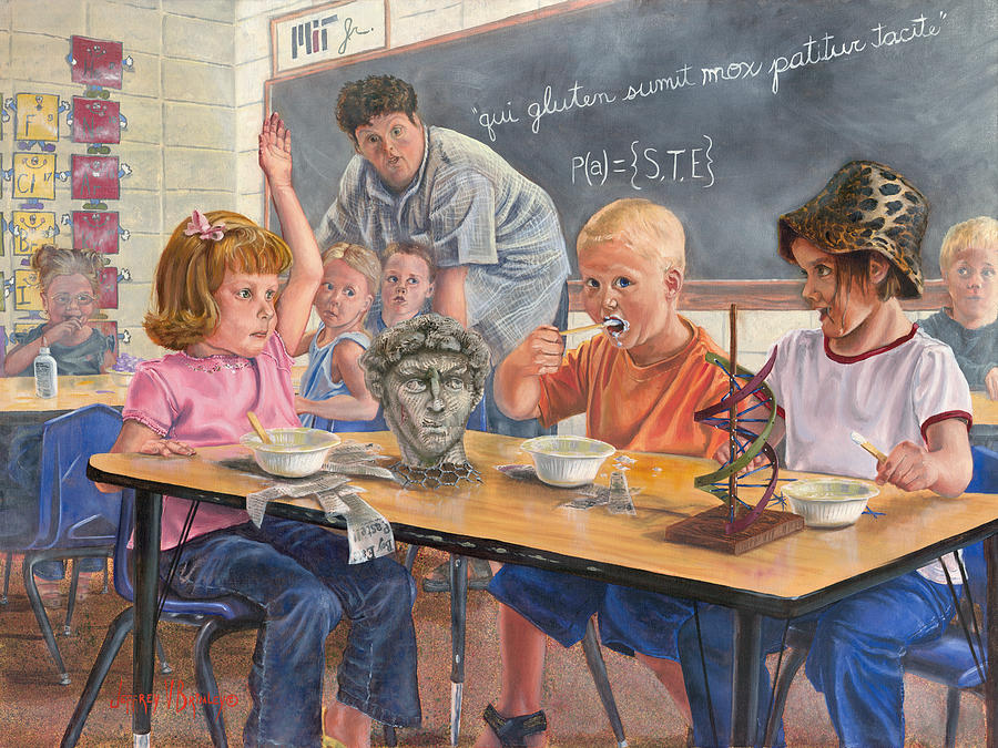 Children Painting - Pasted by Jeff Brimley