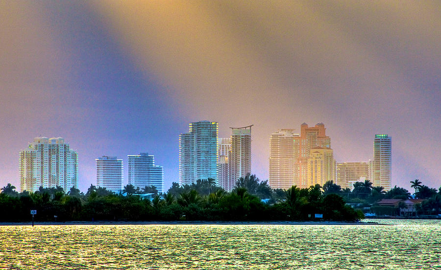 Miami Beach Photograph - Pastel City by William Wetmore
