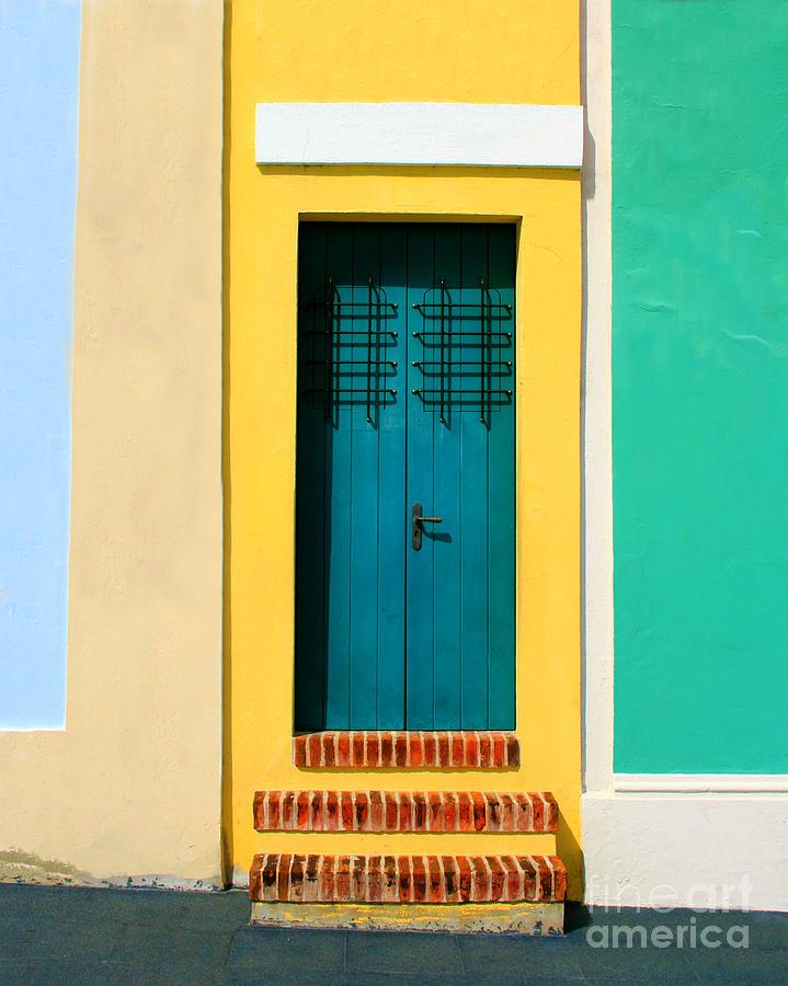Door Photograph - Pastel Doorway by Perry Webster