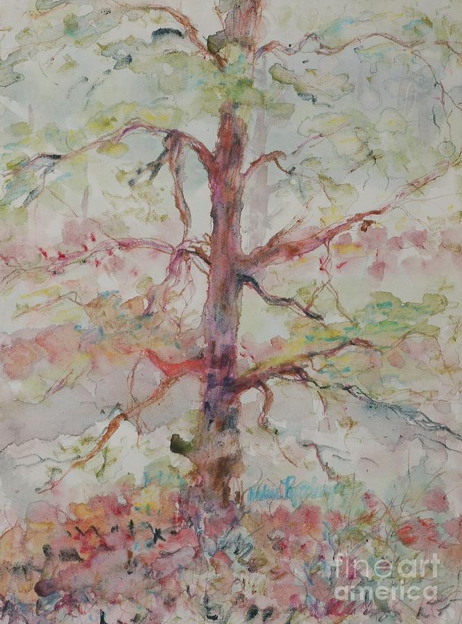 Forest Painting - Pastel Forest by Nadine Rippelmeyer