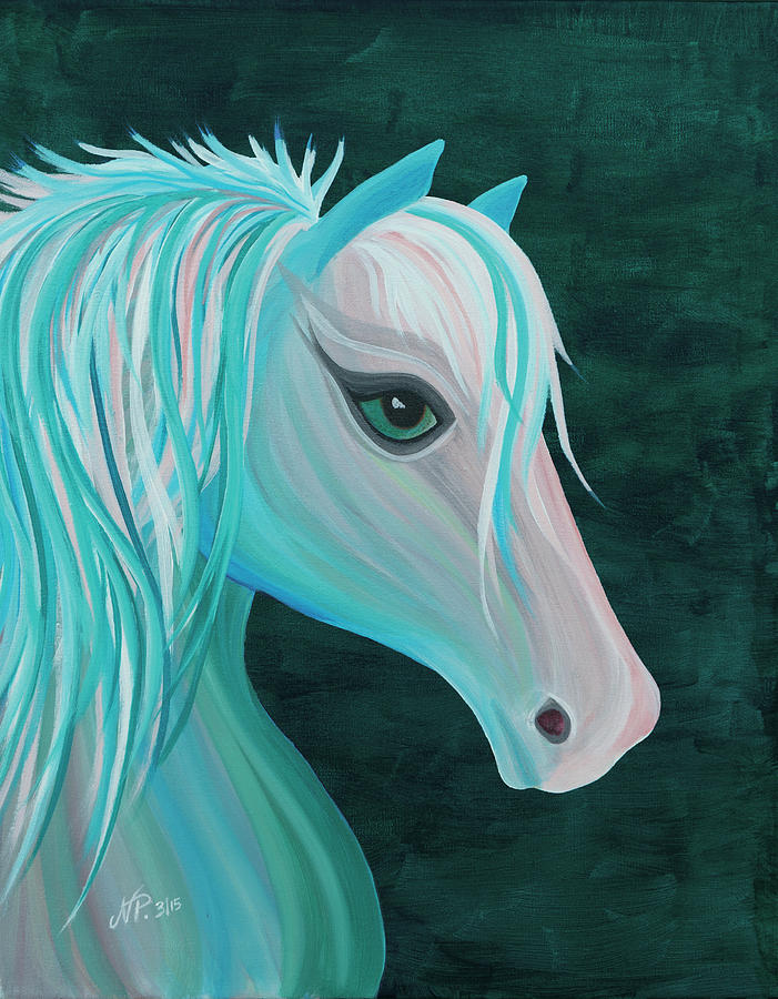 Horse Painting - Pastel Horse by Nicole Paquette