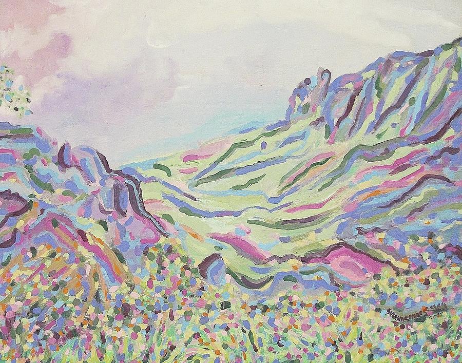 Pastel Painting - Pastel Landscape by Suzanne  Marie Leclair