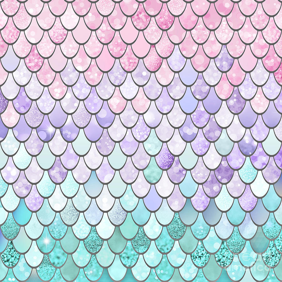 pastel mermaid scales digital art by megan morris clip art beach scenes clip art beach house