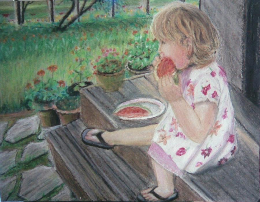 Summer Painting - Pastel Painting-summer Delicacy by Mitali Mahapatra