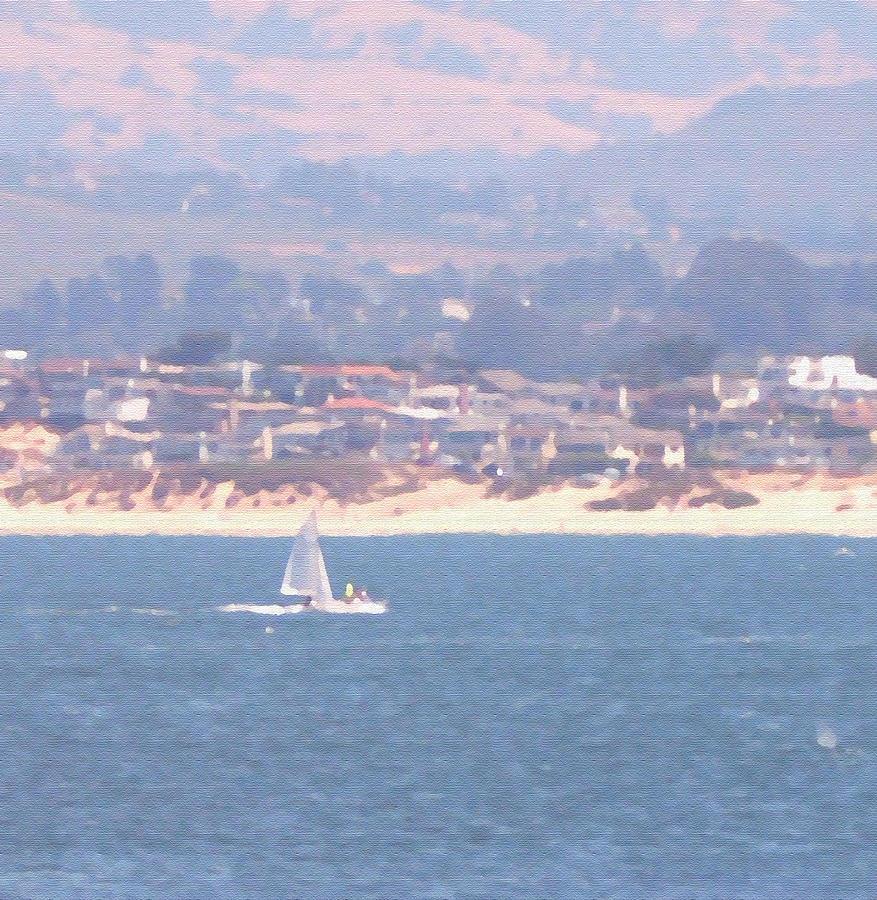 Sailing Photograph - Pastel Sail by Pharris Art