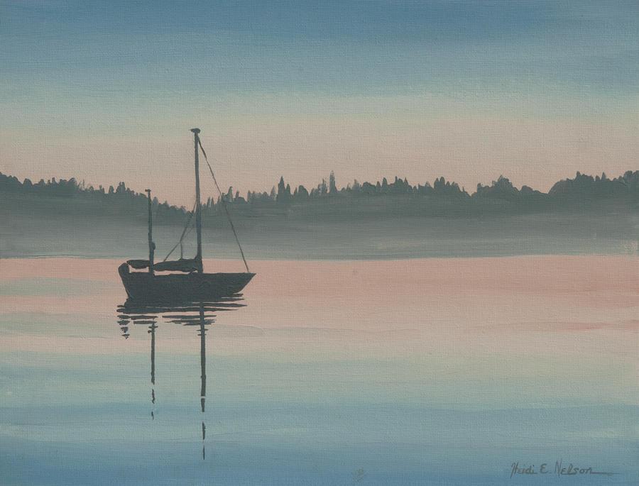Pastel Sailboat by Heidi E Nelson
