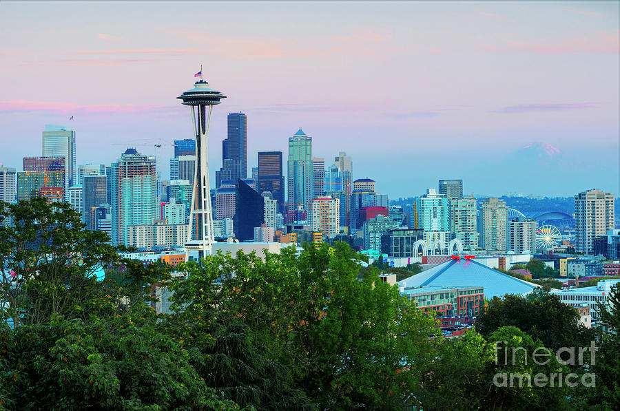 Seattle Photograph - Pastel Seattle by Mike Dawson