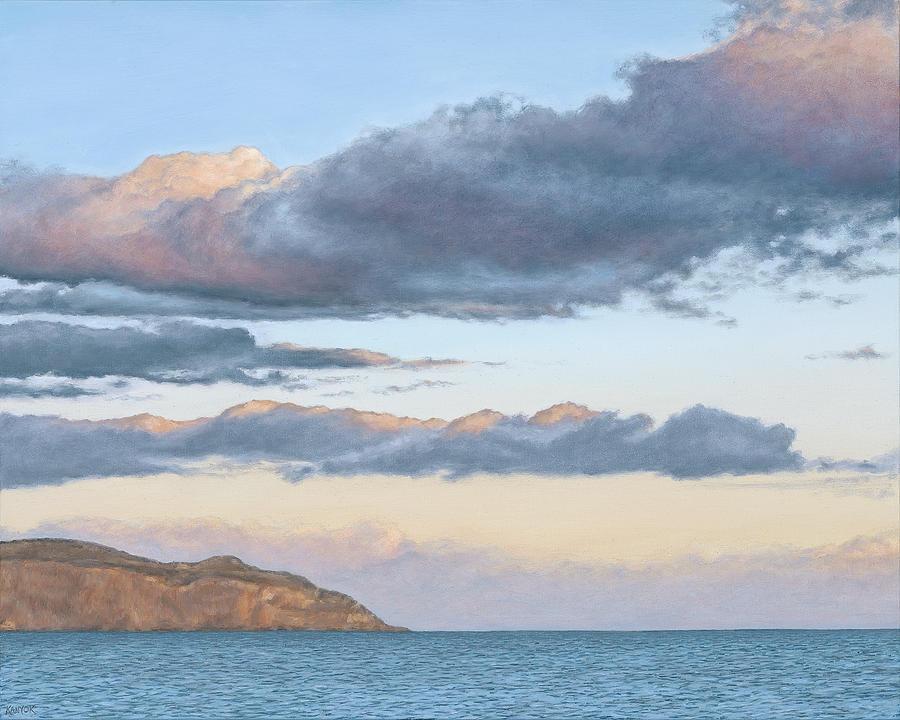 Seascape Painting - Pastel Sky by Darrel Kanyok