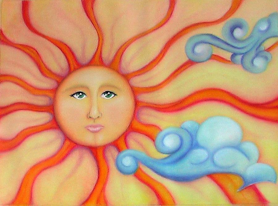 Sun Pastel - Pastel Sun by Nancy Hartson-Miller
