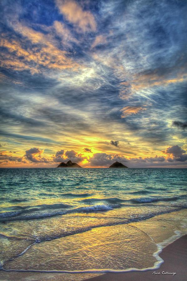 Lanikai Beach Sunrise Oahu Hawaii Seascape Art