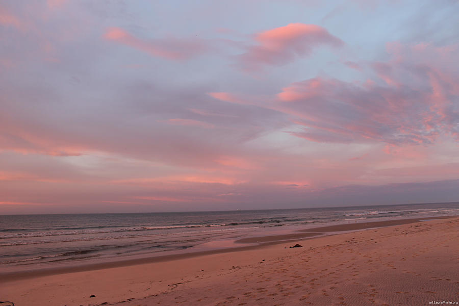 Beach Photograph - Pastel Sunrise by Laura Martin