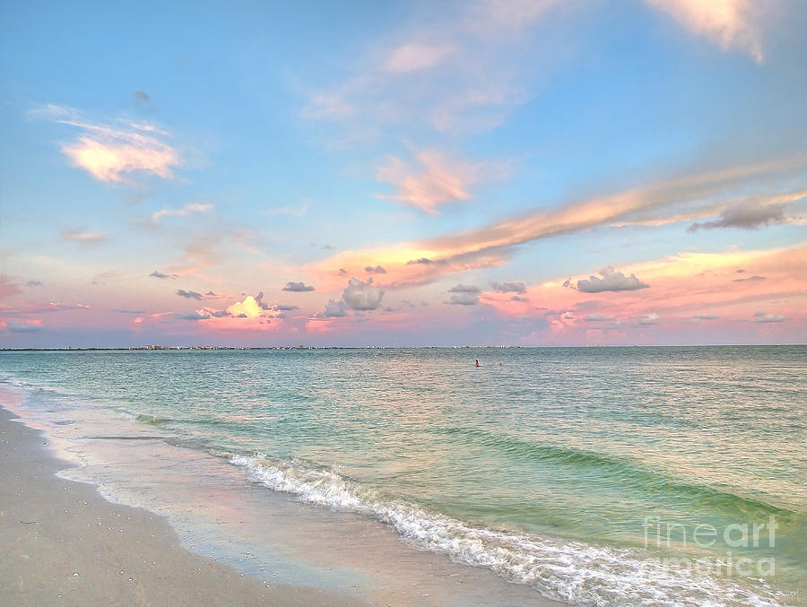 Pastel Sunset On Sanibel Island by Jeff Breiman