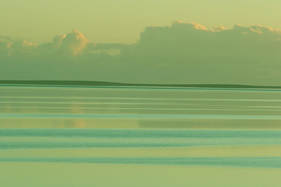 Sunset Photograph - Pastel Sunset Sea Green by Tony Brown