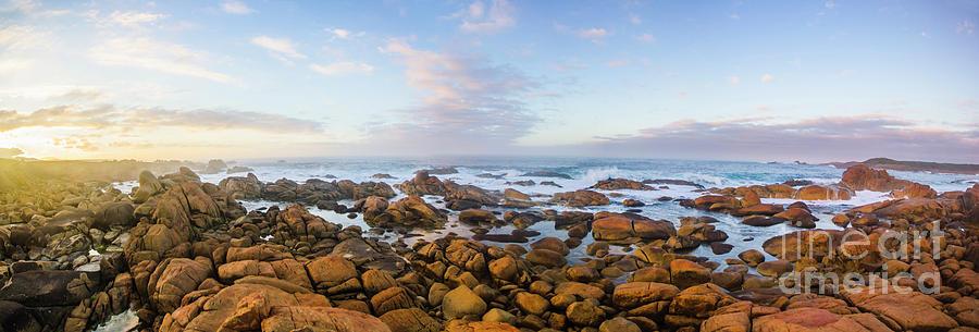 Landscape Photograph - Pastel Tone Seaside Sunrise by Jorgo Photography - Wall Art Gallery