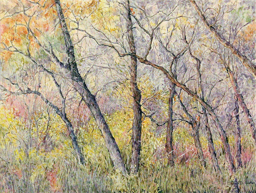 pastel woods painting by joan d sakks