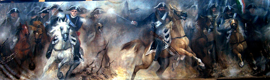Military Painting - Pastrengo - The Charge II by Elisabeth Nussy Denzler von Botha