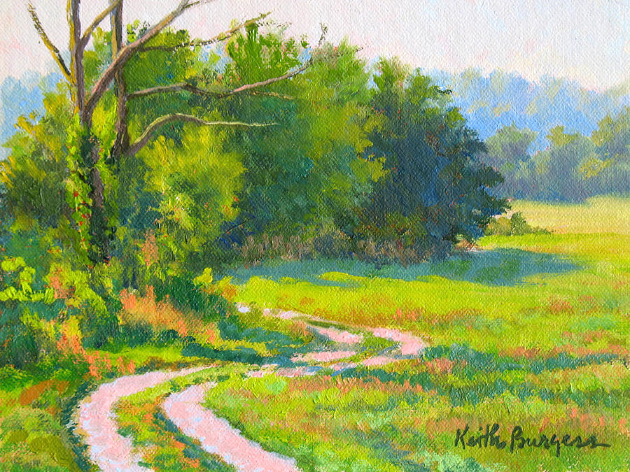 Landscape Painting - Pasture Road by Keith Burgess