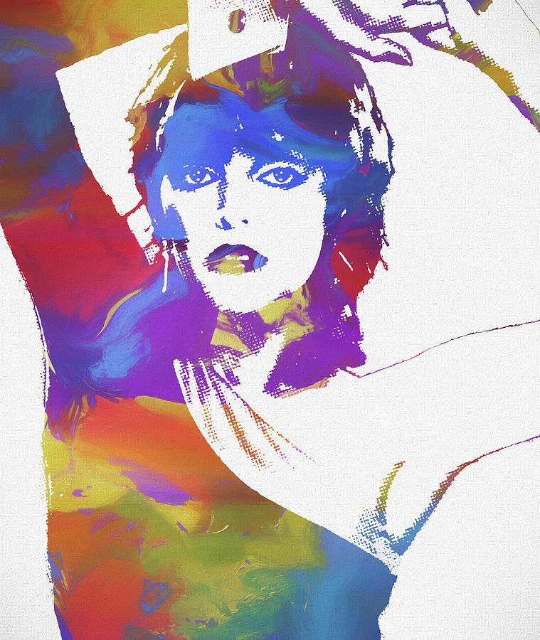Pat Benatar Color Splatter Painting