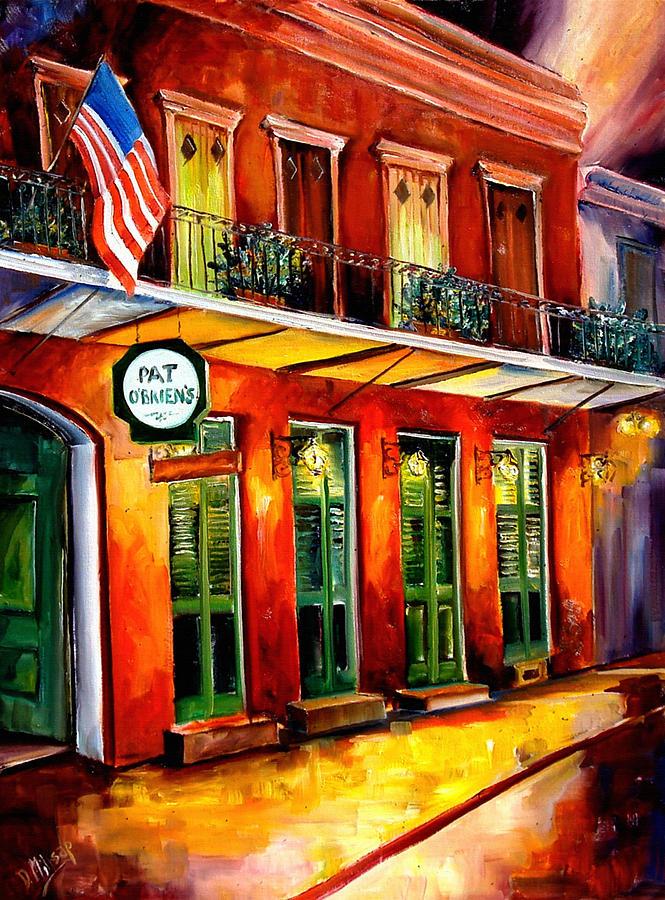 New Orleans Paintings Painting - Pat O Briens Bar by Diane Millsap