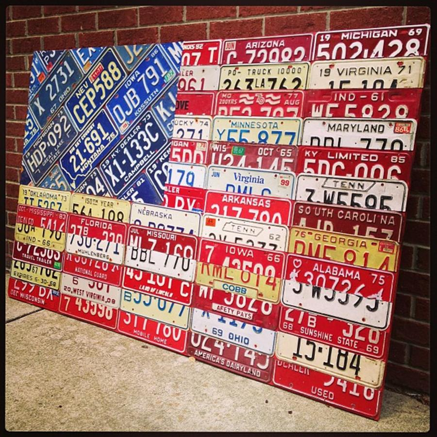 Steel Photograph - Patchwork #american #flag Finished - by Design Turnpike
