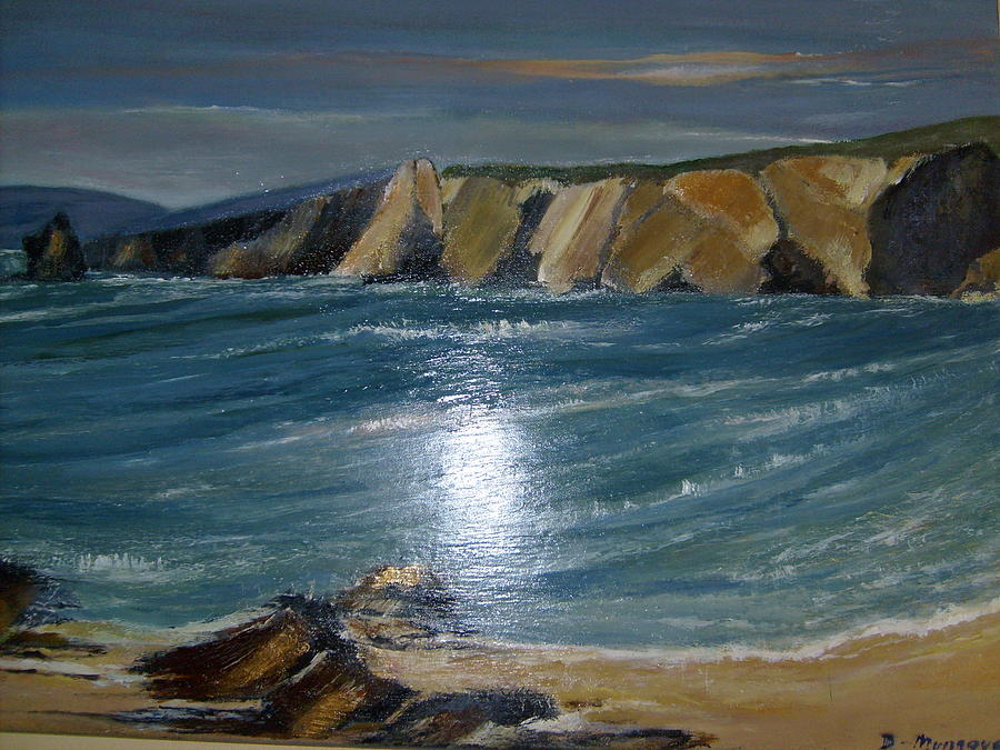 Scenery Painting - Patchwork Cliffs Eire by Deirdre McNamara