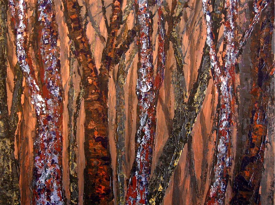 Forest Painting - Patchwork Forest by Wanda Pepin