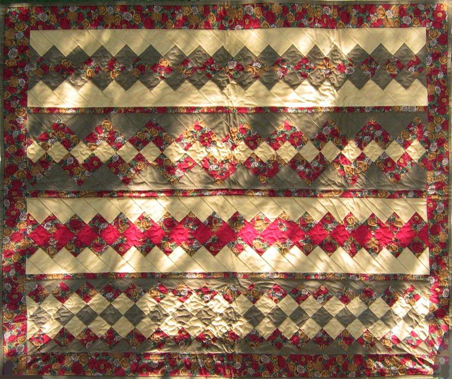 Handmade Tapestry - Textile - Patchwork Quilt 10 by Eva Sandor