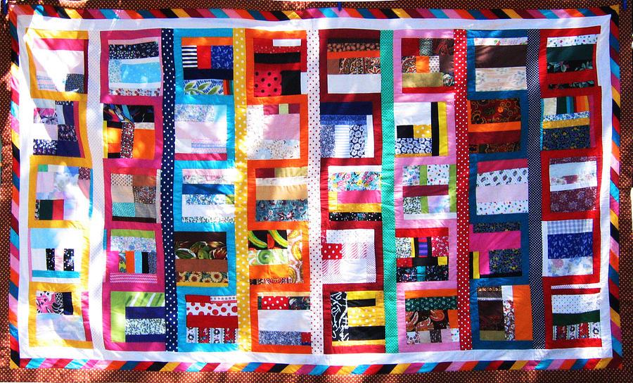 Handmade Tapestry - Textile - Patchwork Quilt 7 by Eva Sandor