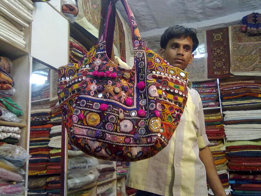 Patchwork Tribal Bags Tapestry - Textile by Santosh Rathi