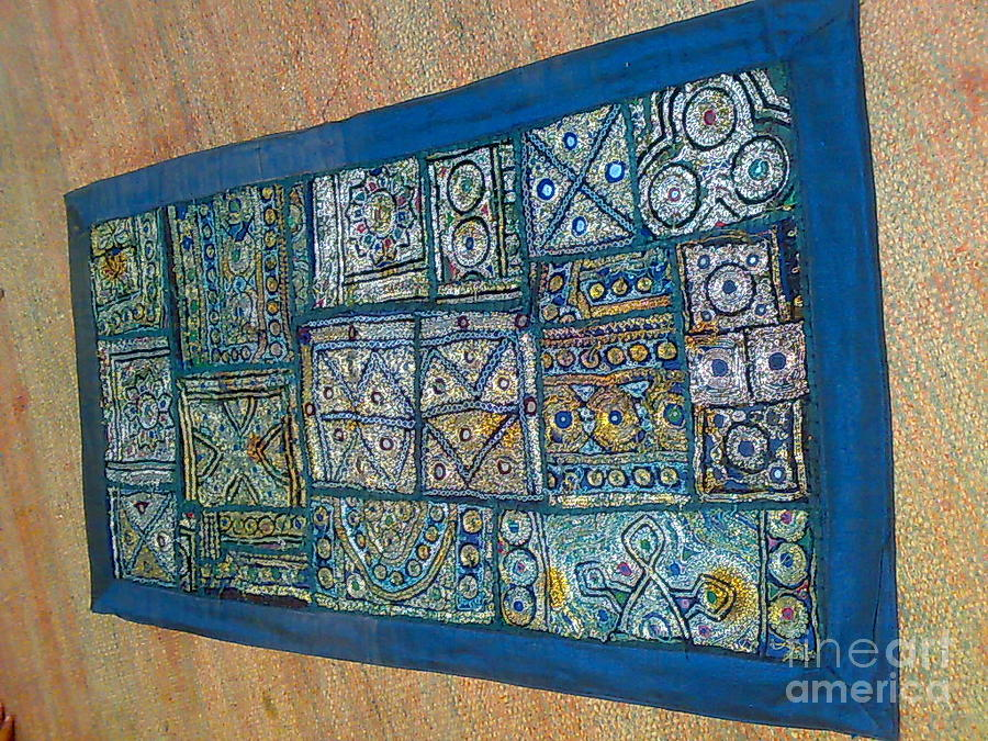 Patchwork Wall Hanging Tapestry - Textile by Dinesh Rathi