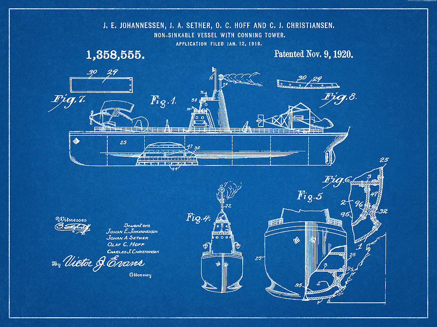Patent 1918 unsinkable battle ship aircraft carrier blueprint patent 1918 unsinkable battle ship aircraft carrier blueprint digital art by unique reproductions malvernweather Image collections