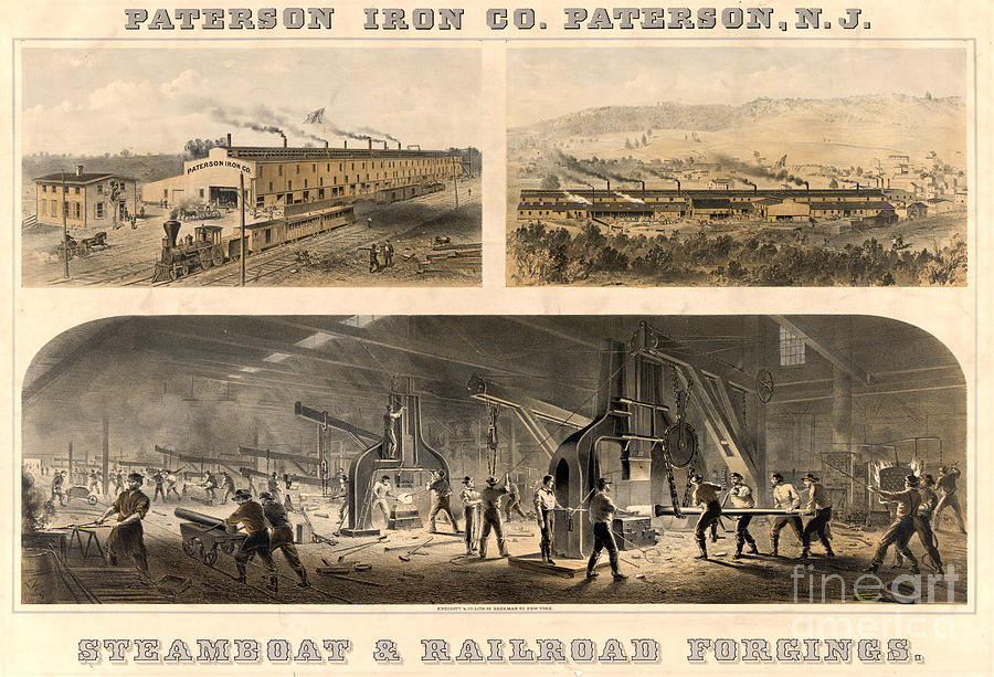 19th Century Photograph - Paterson Iron Company by Granger