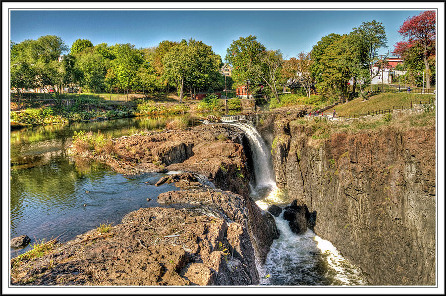 Recent Photograph - Paterson Water Falls Black And White by Geraldine Scull