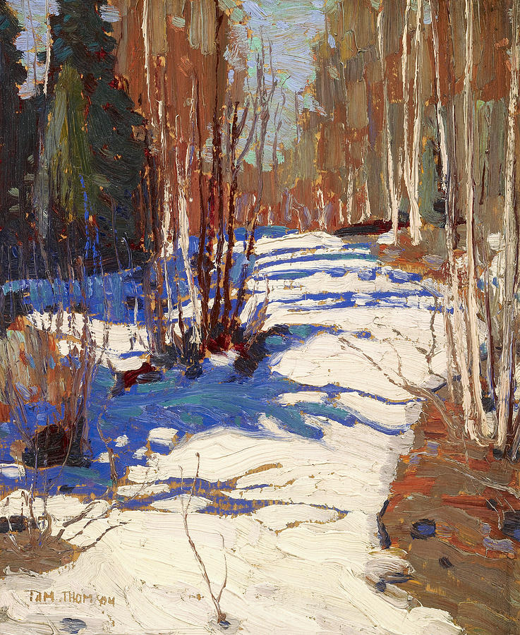 Canadian Painters Painting - Path Behind Mowat Lodge by Tom Thomson