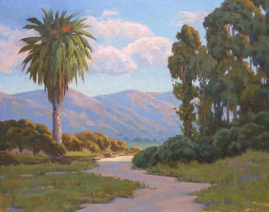 Mountain View Painting - Path Into The Valley by Sharon Weaver