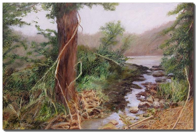 Trees Painting - Path by Liron Sissman