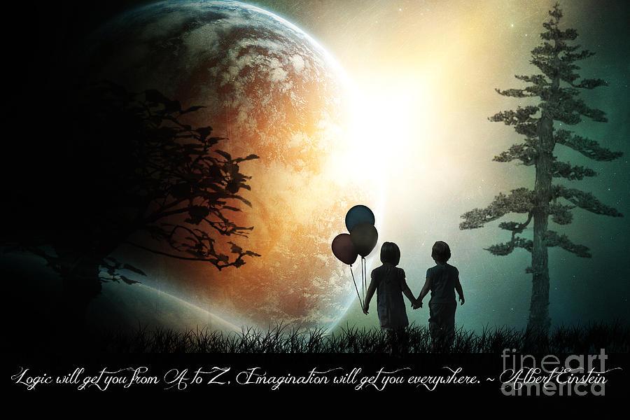 Inspiration Digital Art - Path Of Imagination by Eugene James