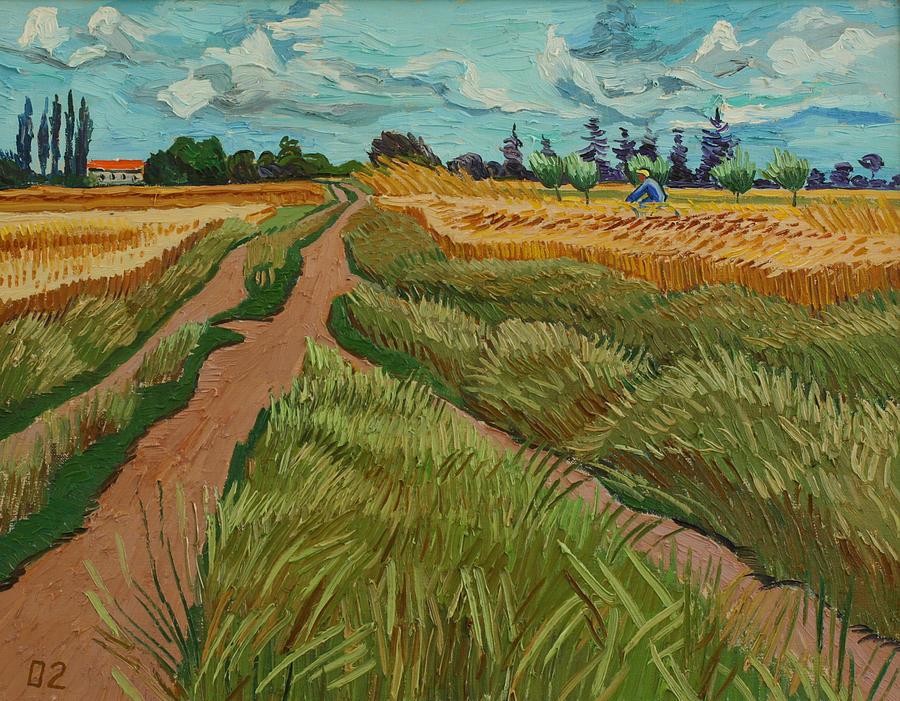 Landscape Painting - Path Through A Wheat Fields by Vitali Komarov
