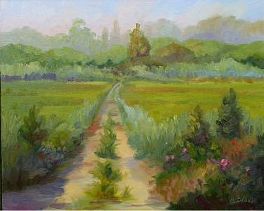 Landscape Painting - Path Through The Marsh by Jan Blencowe