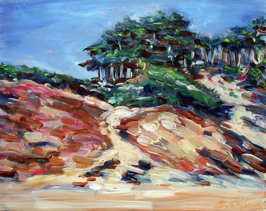 Landscape Painting - Path To Baker Beach by Sheila Tajima