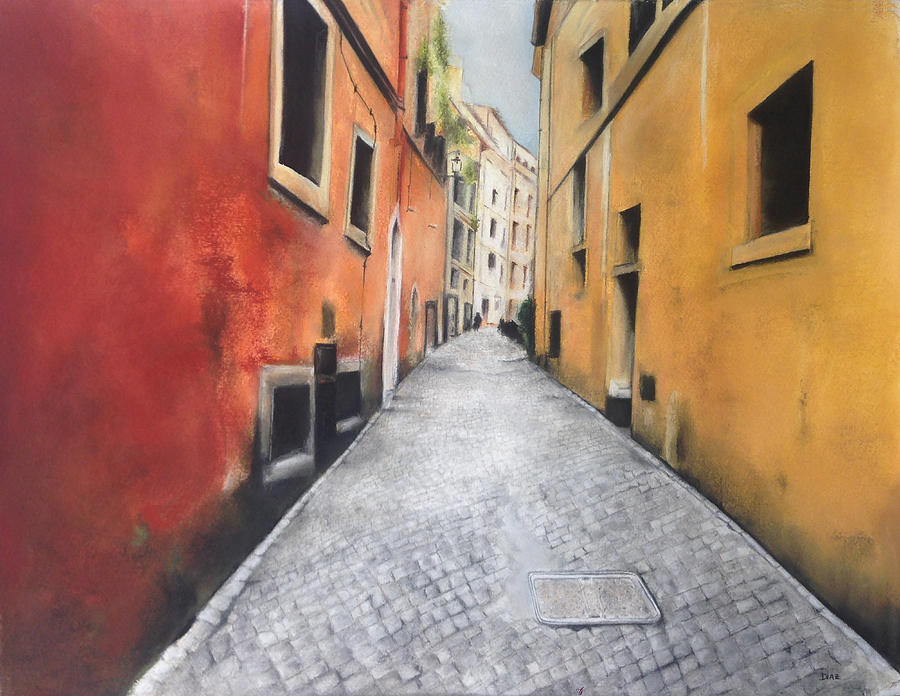 Cobblestone Street Pastel - Path To... by Carrie Diaz