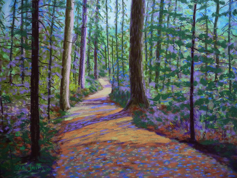 Landscape Pastel - Path To Hubbards Farm Market by Rae  Smith