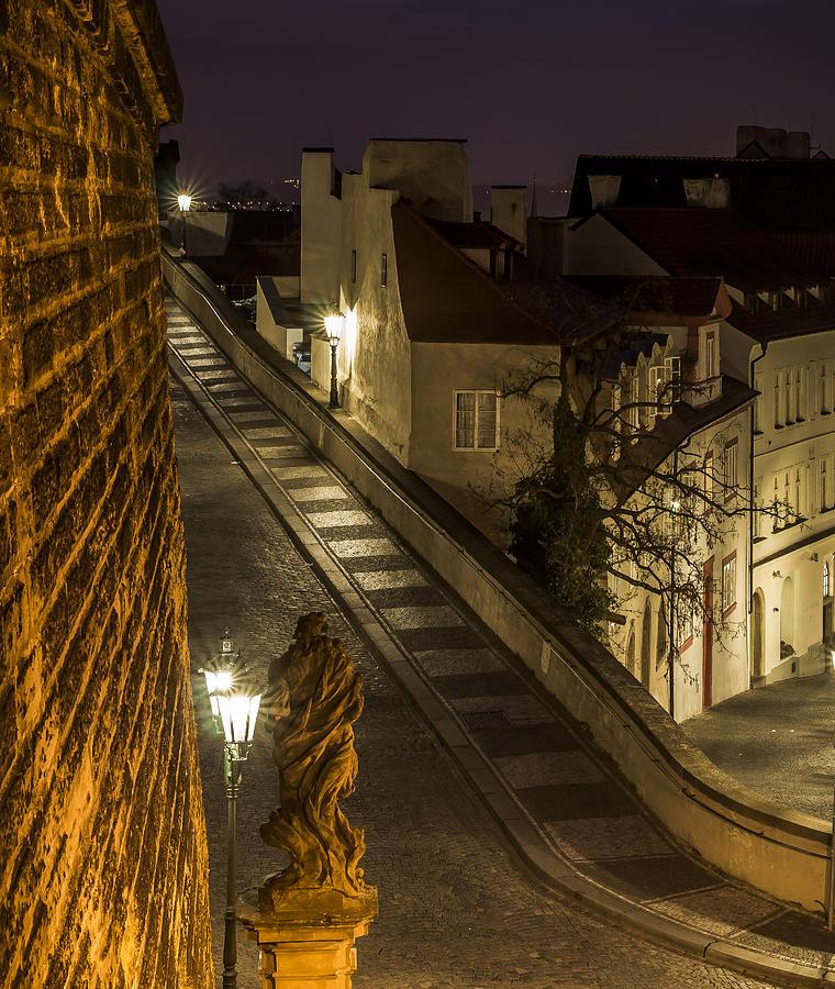 Baroque Statues Photograph - Path To Prague Castle by Marek Boguszak