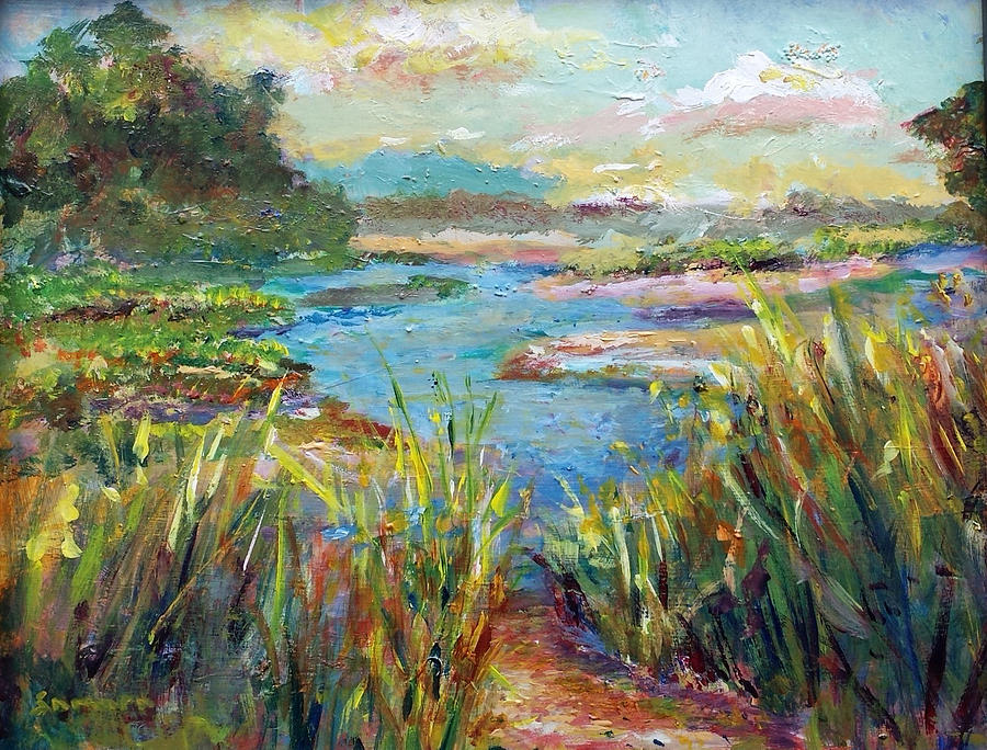 Landscapes Painting - Path To Richness by Laurie Samara-Schlageter